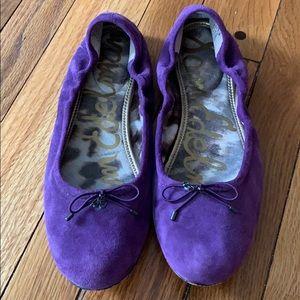 Sam Edelman Felicia  Purple Suede Ballet Flats